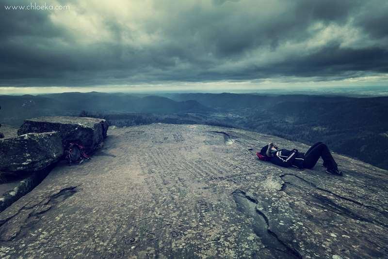 chloeka- Le Donon- mars 2016-Déborah entre terre et ciel