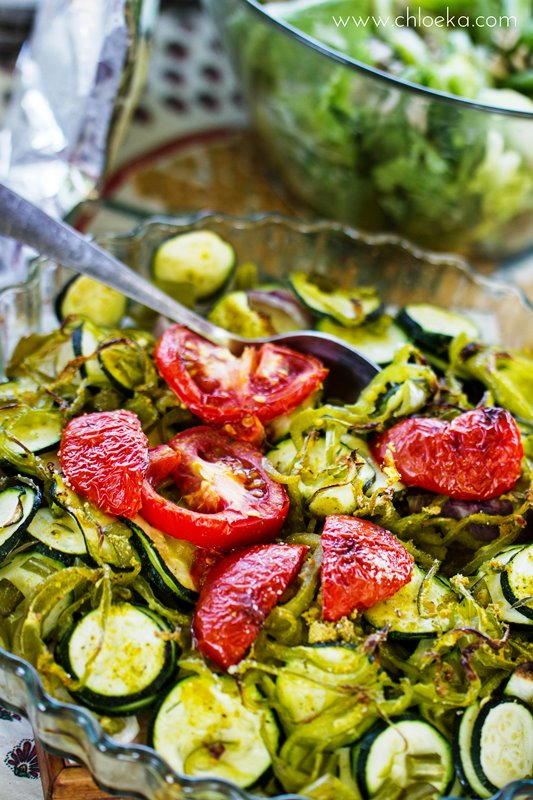 Légumes grillés au four légèrement caramélisés et saupoudrés du thym libre cueilli sur les sentiers !