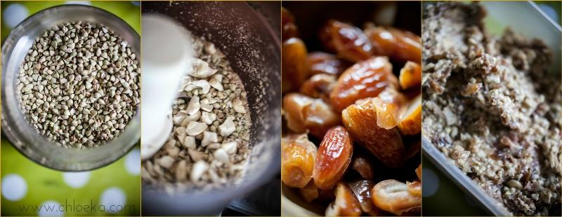 sarrasin germé et déshydraté - noix de cajou - dattes