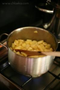 chloeka- crumble pommes banane