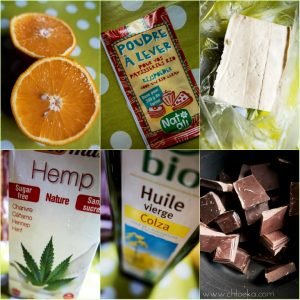 chloeka- ingrédients gateau tout choco fondant