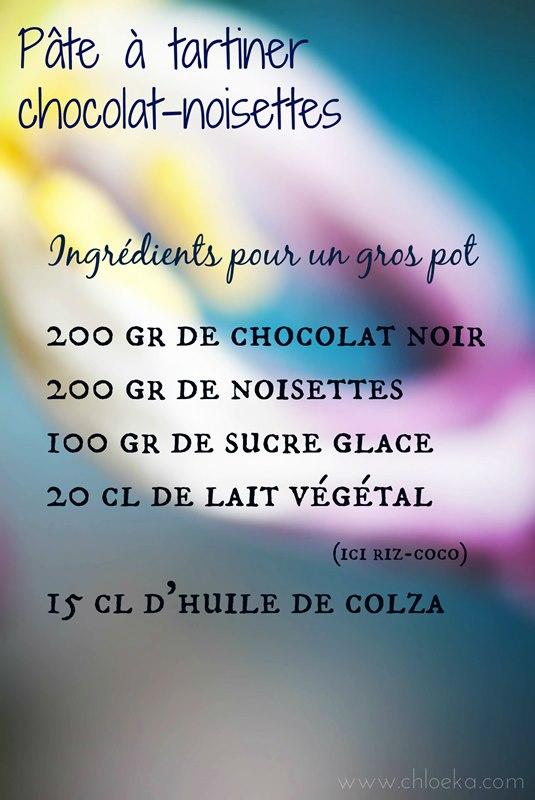 chloeka- ingrédients nutella maison