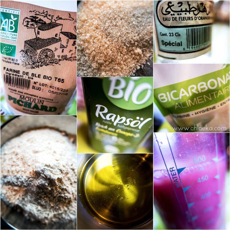 chloeka- ingrédients pancakes à la fleur d'oranger - 2016