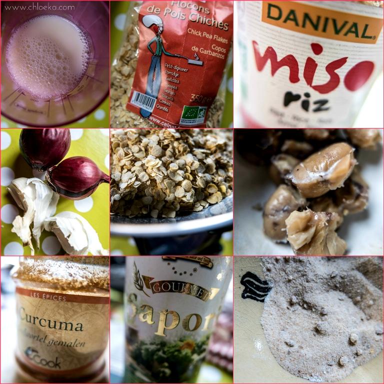 chloeka- ingrédients recette boulettes de pois chiches au curcuma