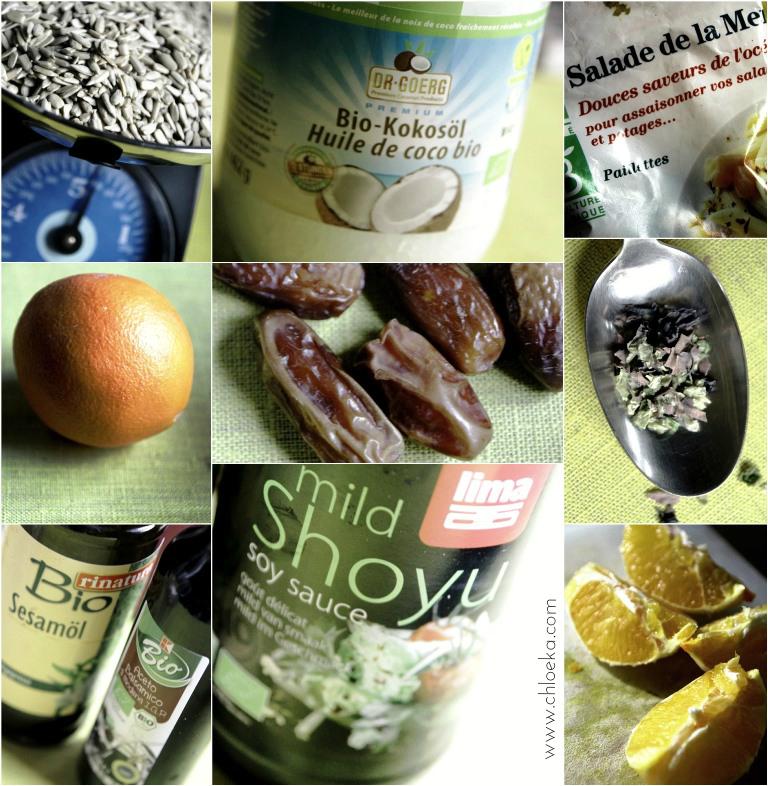 chloeka-ingrédients tartinade crue aux saveurs douces -tournesol algues- dec 2015