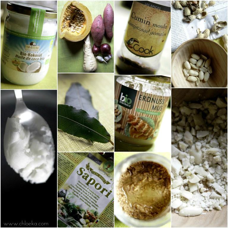 chloeka-ingrédients velouté aux légumes et beurre de cacahuètes-dec 2015
