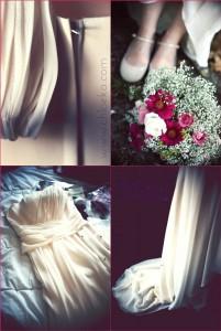la robe et ses détails.
