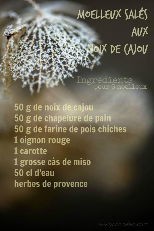 chloeka-moelleux salé aux noix de cajou- mars 2015-ingrédients 1