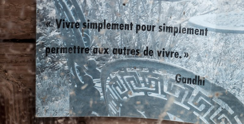 chloeka-rando au Brezouard Aout 2015- message Gandhi