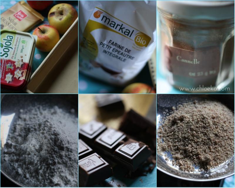 chloeka-recette crumble pomme choco