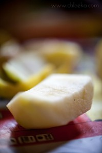 chloeka- tartelettes crues à la crème de pommes- août 2014