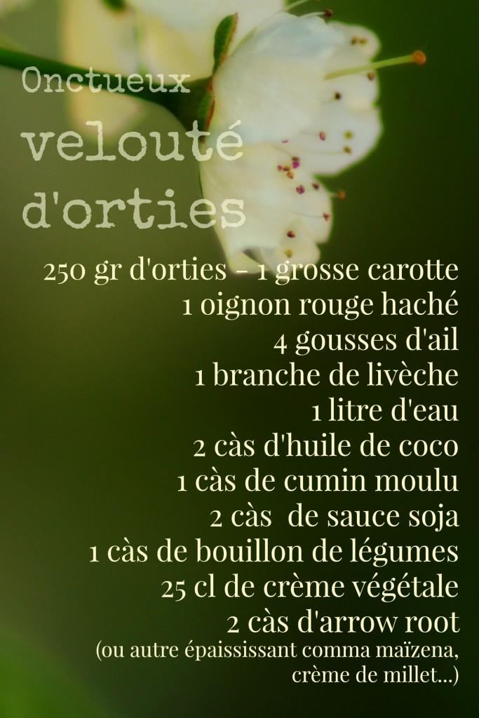 chloeka- velouté d'orties- ingrédients - avril 2015