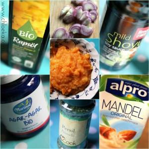 ingrédients terrine froide de potimarron et échalotes