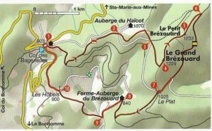 L'itinéraire de la randonnée.